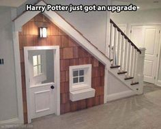 The cupboard under the stairs… - turn it into an indoor playhouse area!