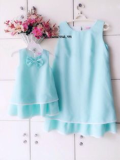Mommy And Me Dresses, Dresses Kids Girl, Day Dresses, Kids Outfits, Baby Girl Frocks, Frocks For Girls, Mother Daughter Fashion, Mom Daughter, Casual Frocks