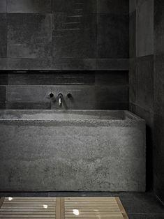 Stone bathroom by Studio Moore, Australia