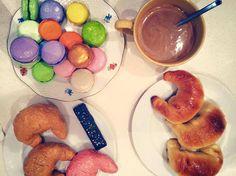 El desayuno con el que nos esperó la artista Camila Valdez.