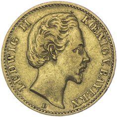 10 Mark 1878 D Deutsches Kaiserreich Bayern, Ludwig II. 1864 - 1886