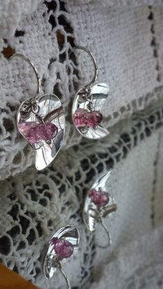 Sweet heart, Sterling Silver and Pink Tourmaline Dangles. $150.00, via Etsy.