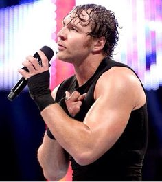 Dean Ambrose/Crossing his fingers, Come on I hope you do, COME ON NOW !!!!! GET'UM DEAN !!!!!!