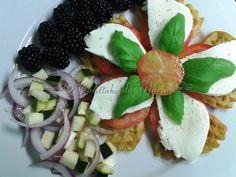 O Cantinho da Marta: Waffles, Tomate e Mozzarella com Companhia