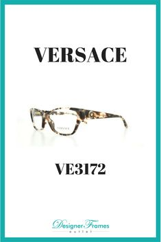 9ea1da4f41b8 Versace VE 3172 Versace Butterfly style frames. Prescription lenses  available. Designer Frames Outlet Versace