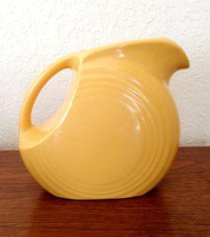 Fiestaware Yellow Marigold Pitcher by PaperParasolVintage on Etsy, $24.00 #retrokitchen #fiestaware