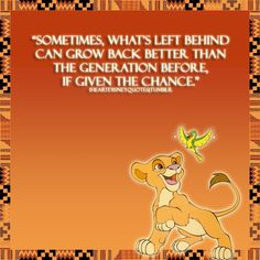 Simba quote from The Lion King 2.