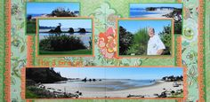 Scrapbook Page - The 3 Graces - 2 page road trip layout with panoramic photo from Travel Album 2