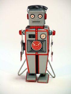 More Great Vintage Japanese Tin Space Toys – – The Invisible Agent Vintage Robots, Retro Robot, Vintage Toys, Metal Toys, Tin Toys, Japanese Toys, Vintage Japanese, Nono Le Petit Robot, Mr Roboto