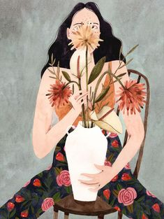 How wonderful are these illustrations by Brazilian artist Brunna Mancuso? Each of the ladies, some of which were painted as part of the artist's own 365 Day Project, are so full of authentic character and… Arte Fashion, Poster S, Wow Art, Illustrations And Posters, Art Plastique, Watercolor Illustration, Art Inspo, Painting & Drawing, Design Art