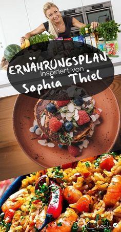 Der Sophia Thiel Ernährungsplan, der Bestandteil ihres Programms ist, enthält Rezepte für Frühstück und Abendessen. Die Ernährung ist gesund und leicht.