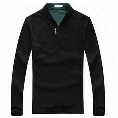 6 Colors Mens Sports Solid Color Long Sleeved Polo Shirts at Banggood