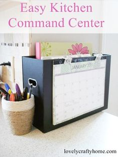 Kitchen-Command-Center. Looks like a good spot for mail to collect instead of on the counter in a pile.