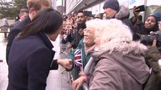 Meghan Markle gets the blessing of two elderly women in Birmingham. The two elderly sisters, Irene Gould, 82, and June Dickinson, 78, said: 'We were just so pleased to meet them. We thanked Harry for coming to see us and wished them all the best.'