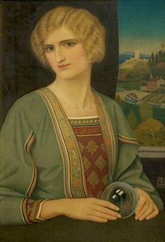 The Crystal by Joseph Edward Southall. Nottingham Castle Museum and Art Gallery.