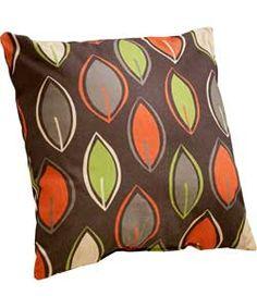 retro leaf cushion