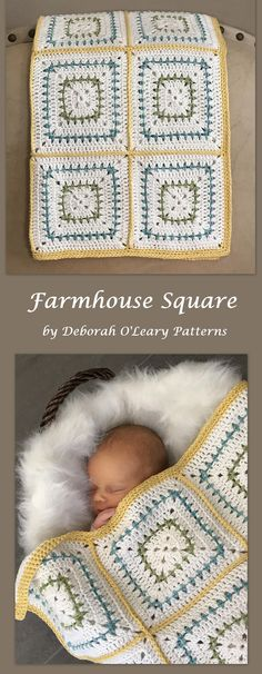Crochet Baby Blanket Pattern Chunky Squares Crochet Baby