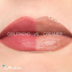 Compare Creamer vs. Girlfriend LipSense using this photo.  Creamer is a Limited Edition LipSense lipcolor that was part of the Cafe Lips Collection. Creamer is NO LONGER available @ Corporate.  Click to contact me and see if I still have one on hand!  #creamer #cafelips