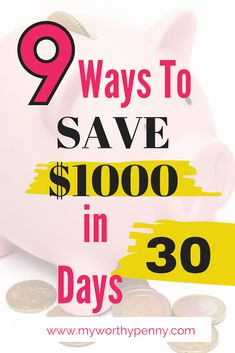 Are you looking into saving $1000 in a month? Here are some of the awesome tips to save $1000 in 30 days. #savemoney #savemoneyfast #savingmoney #savingmoneytips