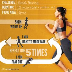Nothing like a good Fartlek! Interval training