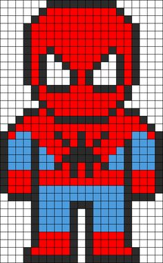 SpiderMan Perler Bead Pattern http://mistertrufa.net/librecreacion/culturarte/?p=12