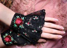 1900 custom made pair of romantic antique lace by FleursBoheme