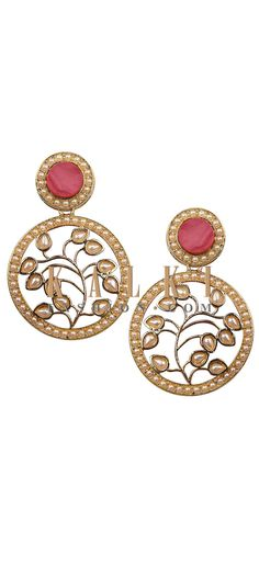 Buy Online from the link below. We ship worldwide (Free Shipping over US$100). Product SKU - 276498. Product Link - http://www.kalkifashion.com/stylish-pink-floral-earrings.html