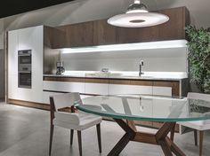 Descarregue o catálogo e solicite preços de Opera | cozinha linear By elam, cozinha linear com puxadores integrados, Coleção opera