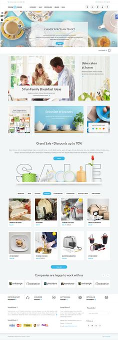 CoonCook is an universal theme for online store, can be used to sell a wide range of goods. #eCommerce #webdesign #prestashop http://templates.jrstudioweb.com/