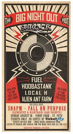 18 August 2013: Big Night Out @ Vinoy Park [St. Pete] - Ft music by Fuel, Hoobastank, Alien Ant Farm & Clenchfist!