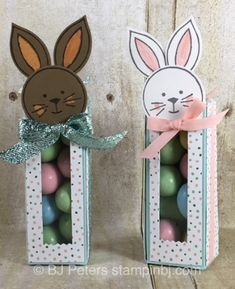 Cuteness Alert!!!!! These Bunny treat boxes are super duper cute and best of all, they are super easy to make! I can't wait to make a few more of these to have on my Easter table and in my Easter...