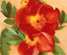 Georgia O'Keeffe. Two Australia Copper Roses III 1957