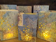5 Travel Luminaries Travel Themed Decor Made to by Oldendesigns