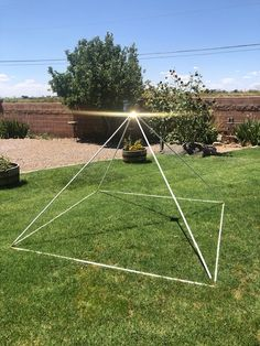 """7' Meditation Pyramid with gold plated corners connectors & 4"""" capstone"""