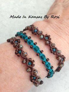 Macrame Bracelet Diy, Macrame Bracelet Patterns, Macrame Earrings, Bracelet Crafts, Macrame Jewelry, Macrame Bracelets, Ankle Bracelets, Jewlery, Ankle Chain
