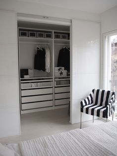 New wardrobe closet ideas ikea pax sliding doors Ideas Bedroom Closet Design, Room Ideas Bedroom, Home Room Design, Closet Designs, Home Bedroom, Home Interior Design, Bedroom Decor, Bedrooms, Ikea Wardrobe