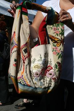 in love with this embroidered boho hobo bag