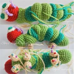 Hollywood Cerise: Once upon a time there was a very hungry caterpillar Very Hungry Caterpillar, Crotchet, Crochet Projects, Crochet Necklace, Crochet Hats, Knitting, Creative, Cute, Blog