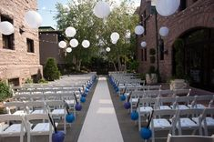 The Van Dusen Mansion -Ceremony in the Courtyard