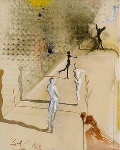 Illustration by Salvador Dali, 1960's, Marquis de Sade.