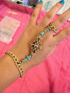 Eat, Breathe, Create. Repeat Daily.: DIY Gold and Turquoise Handpiece