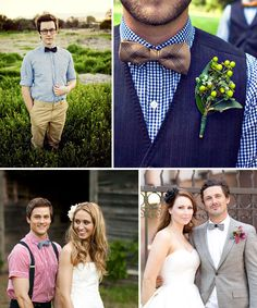 Fun Bow Ties for the Groom   Green Wedding Shoes Wedding Blog   Wedding Trends for Stylish + Creative Brides