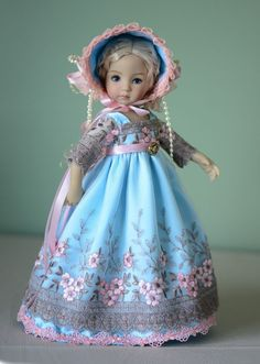"""SOLD """"Cloudless Sky"""" Dress, Outfit, Clothes for 13"""" Dianna Effner Little Darling  #LuminariaDesigns"""