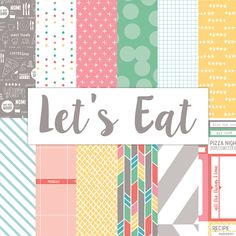 Let's Eat Paper Collection Pack from Elle's Studio