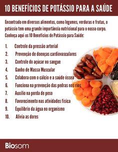 Clique na imagem para ver os detalhes dos 10 Benefícios de Potássio para Saúde #alimento #alimentacao #alimentação #alimentacaosaudavel #alimentaçãosaudável #saúde #bemestar #potassio #potássio