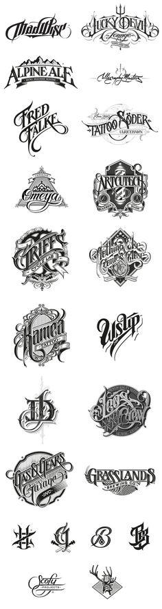 Typeverything.com - Hand drawn logos by Martin Schmetzer.
