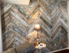 Home Gym - Herringbone reclaimed wood wall. #fivebuilt - http://amzn.to/2fSI5XT