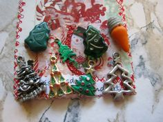 Christmas Tree Charms and Beads by janissupplies on Etsy, $11.50
