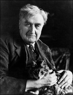 Ralph Vaughan Williams OM ~ was an English composer of symphonies, chamber music, opera, choral music, and film scores. He was also a collector of English folk music and song. Music Love, My Music, Early Music, Modest Proposal, Men With Cats, Classical Music Composers, People Of Interest, Music Images, Cat People
