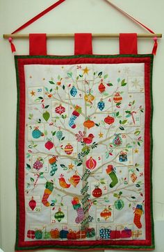 Advent Calendar. Quilted Christmas tree by BrushesAndBodkins